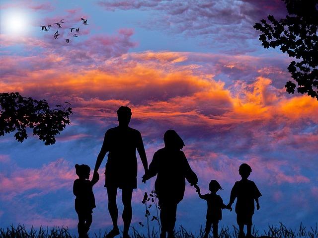 une famille en voyage